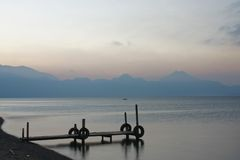 Lake Atitlan Early Morning Stock Images