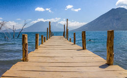 Lake Atitlan Pier, Guatemale, Central America Royalty Free Stock Photography