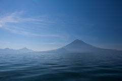 Lake Atitlan and volcanoes Stock Photography