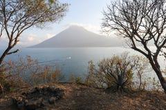 Lake Atitlan with vulcano San Pedro Royalty Free Stock Photo