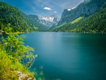 Lake with Glacier and Forest. Austria´s beautiful Lakes! Take this image to your Tourism/Hotel Website and enjoy Royalty Free Stock Images
