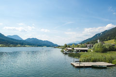 Lake in Austria - Weissensee Royalty Free Stock Photo