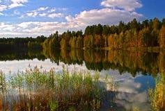 Lake of autumn... Royalty Free Stock Photography