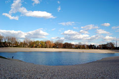 Lake autumn. Lake  Bundek in Zagreb, Croatia. Beautiful nature and clean water. Paradise for those who seek untouched nature to relax in a big city Stock Photo