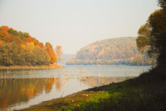 Lake in autumn. Lake Borovik, Croatia in autumn Royalty Free Stock Image