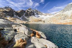 Lake in High Tatras mountains, Slovakia Royalty Free Stock Photography