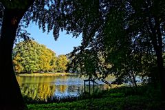 Lake autumn reflection water. Lovely autumn impressions Royalty Free Stock Images