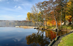 Lake autumn's reflection Royalty Free Stock Image