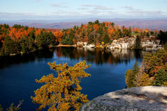 A lake with autumn view. In minnewaska state park, new york Stock Photo