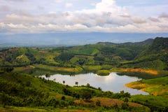 Lake av Doi Chang Arkivbild