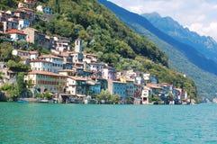 lake av Lugano Arkivbilder