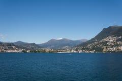 Lake av Lugano, Schweitz Royaltyfria Bilder