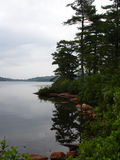 Lake Awosting, rainy day. Raining summer day, Lake Awosting, Minnewaska state park, ny stock photos