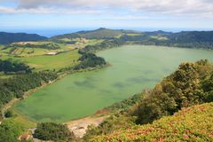 Lake in Azores Stock Images