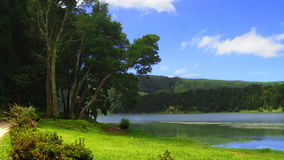 Lake in Azores Royalty Free Stock Photo