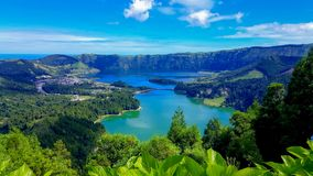 Lake Azul on the island of Sao Miguel Azores stock image
