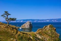 Lake Baikal на солнечный летний день Стоковое Изображение RF