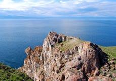 Lake Baikal. Side of the Lake Baikal, mountains on the horizon Royalty Free Stock Image