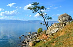 Lake Baikal in the autumn, Russia Royalty Free Stock Photos