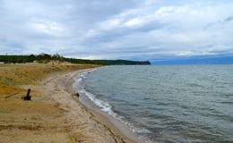 Lake Baikal in the autumn, Russia Stock Photo
