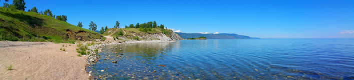 Lake Baikal. Beautiful panoramic view Stock Image