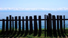 Lake Baikal. Fence. Royalty Free Stock Images