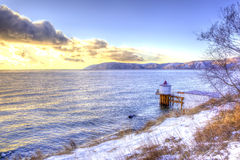 Lake Baikal. HDR Royalty Free Stock Image
