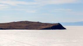 Lake Baikal nature landscape timelapse stock footage