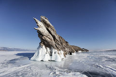 Lake Baikal, Ogoi island. Winter landscape Stock Photos