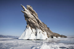 Lake Baikal, Ogoi island. Winter landscape Royalty Free Stock Image