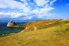 Lake Baikal. Olkhon island. Cape Burkhan. Royalty Free Stock Photos