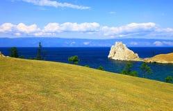 Lake Baikal. Olkhon island. Cape Burkhan. Stock Images