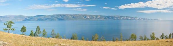 Lake Baikal panorama stock photo