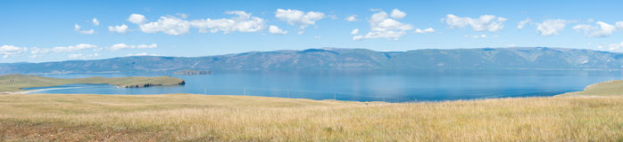 Lake Baikal panorama Royalty Free Stock Photos