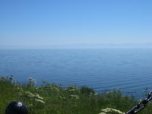 Lake Baikal, Russia. View from the coast. Lake Baikal - the deepest lake in the world. Stock Photography