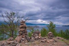 Lake Baikal. The Lake Baikal. Shamanic rituals Royalty Free Stock Image