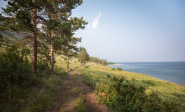 Lake Baikal Shore Stock Images