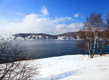 Lake Baikal. Spring. Royalty Free Stock Photography
