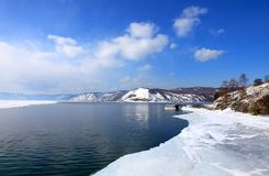 Lake Baikal. Spring. Royalty Free Stock Photo