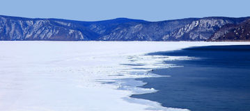 Lake Baikal. Spring. Stock Photos