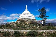 Lake Baikal, the stupa of the Buddha. This stupa symbolizes the unity of all religions Royalty Free Stock Image