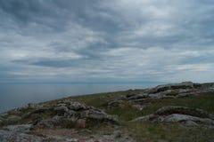 Lake Baikal in Aya bay. Lake Baikal view in Aya bay in Tangerian steppes Royalty Free Stock Photo