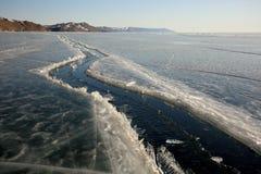 Lake Baikal in winter. Royalty Free Stock Photos