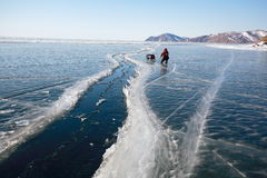 Lake Baikal in winter. Stock Images