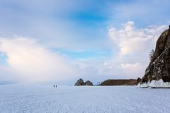 Lake Baikal in winter royalty free stock image