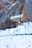 Lake Baikal in winter stock image