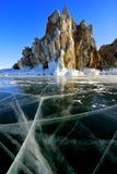 Lake Baikal winter view Stock Image