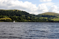 Lake Bala in Snowdonia, North Wales stock images