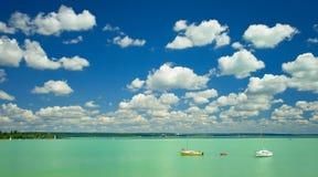Lake Balaton fotografering för bildbyråer