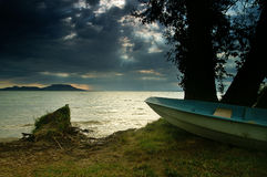 Lake Balaton. Hungary,Beach of Balatongyörök Stock Photo
